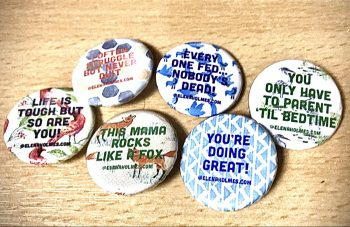 Assortment of Positive Vibe Badges