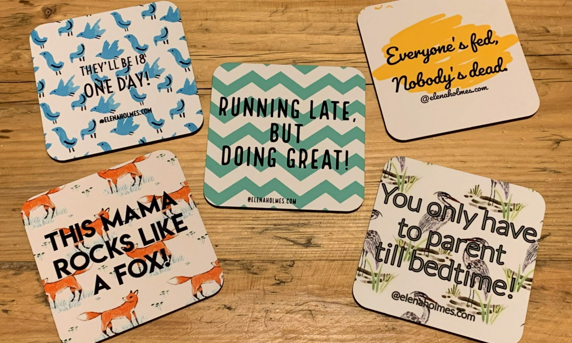All of the coaster designs
